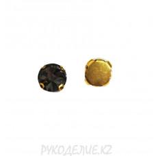 Стразы в цапках ОАЭ круглые конусные 12мм