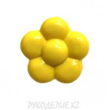 Пуговица ромашка LFK-25 (24L, Желтый)