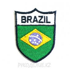 "Шеврон клеевой ""Brazil"" 3,7*5см"
