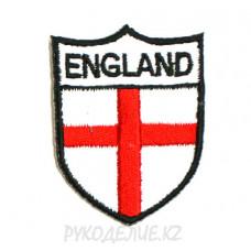 """Шеврон клеевой """"England"""" 3,7*5см"""