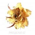 Брошь Цветок роза с резинкой d=190мм 1 - Золотой
