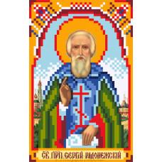 Рисунок на шелке Святой Сергий Радонежский 22*25см Матрёнин Посад