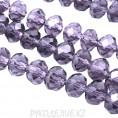 Бусины стекло граненое 10мм 21 - Фиолетовый