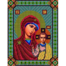Ткань с рисунком Б.М.Казанская 14*18см БисерКА