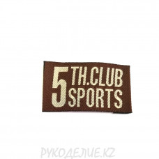 Лейбл пришивной 5th.club sports 4,3*2,4см