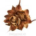 Брошь Цветок d-145мм (т зол) 1 - Тёмно-золотой