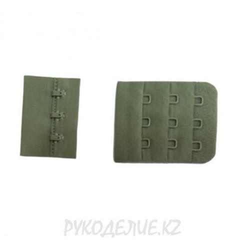 Застежка для бюстгальтера на тканевой основе (40*50мм) в 3*3 ряда Angelica Fashion