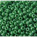 Бисер жемчужный непрозрачный 10/0 Preciosa 58250 - Ярко-зелёный