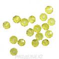 Бусины стекло граненое 10мм 62 - Лимонный