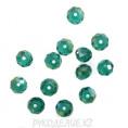 Бусины стекло граненое 10мм 61-1 - Бирюзово-зелёный АВ