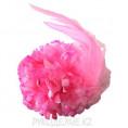 Брошь Цветок Гвоздика d-90мм 16 - Розовый