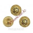 Кнопка пришивная металлическая MS K-47 25мм, 1 - Gold (Золотой)