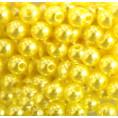 Бусины жемчуг пластиковые 6мм (10гр) 24 - Жёлтый