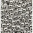 Бусины жемчуг пластиковые (10гр) 4мм - 2 - Серебряный