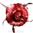Брошь Цветок со стразами d-120мм (св борд) 1 - Светло-бордовый