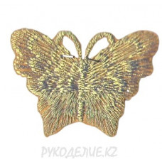 "Термоаппликация ""Бабочка"" 3*2,5см (зол)"