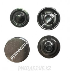 Кнопка установочная металлическая нержавейка