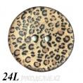 Пуговица деревянная CB R-28 24L, 1 - Леопардовый