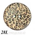 Пуговица деревянная CB R-28 28L, 1 - Леопардовый