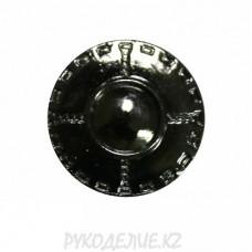Пуговица джинсовая BJ005 (17мм, Черный)