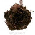 Брошь Цветок пион d-120мм 11 - Темно-коричневый