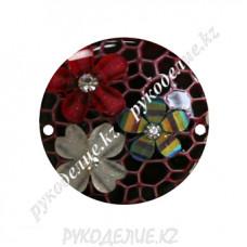 Декоративная деталь пришивной круг