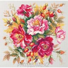 Набор для вышивания крестом Магия цветов.Шиповник 30*30см Чудесная игла