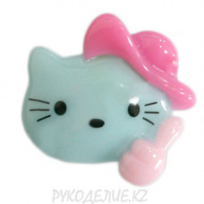 Клеевая фигурка котенок в шляпе