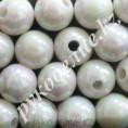 Бусины жемчуг пластиковые 14мм (9 штук) 74 - Белый АВ