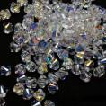 Бусины биконусы стекло 5328 4-d Swarovski 001-1 - Crystal AB