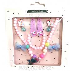 Детский набор (клипсы, браслет, бусы, 2заколки, 2резинки)