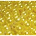 Бусины жемчуг пластиковые 6мм (10гр) 56 - Оттенок жёлтый