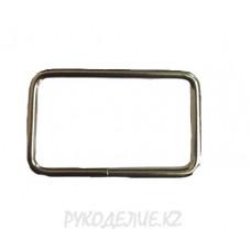Фурнитура сумочная Рамка прямоугольная разъемная металлическая КС-25 Гамма