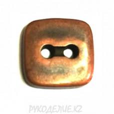 Пуговица металлоимитация TA8823 (19L, Медный)