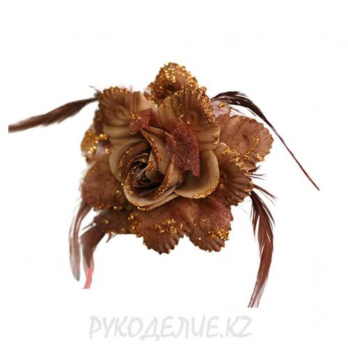 Брошь Цветок роза d-110мм