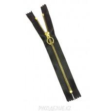 Молния разъемная металл декоративная атласная №5 (70см, Золото) Angelica Fashion