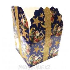 Сборная подарочная коробочка 13*13*13см