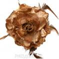 Брошь Цветок пион d-120мм 12 - Коричневый