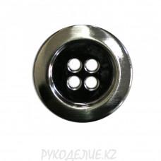 Пуговица металлическая MP6346 (24L, Темно-никелированный)
