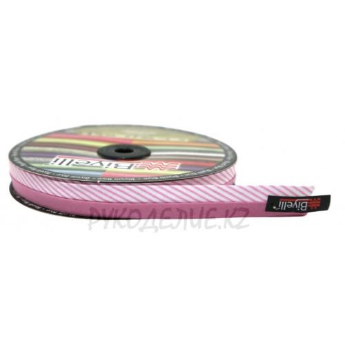 Косая бейка Полоска 20мм (1 - Светло-розовый)
