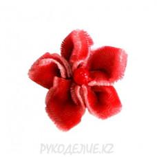 Цветок пришивной d-25мм (коралл)