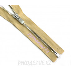 1-зам Молния металл №3 YKK  разъемная, никель глянец, 60 см